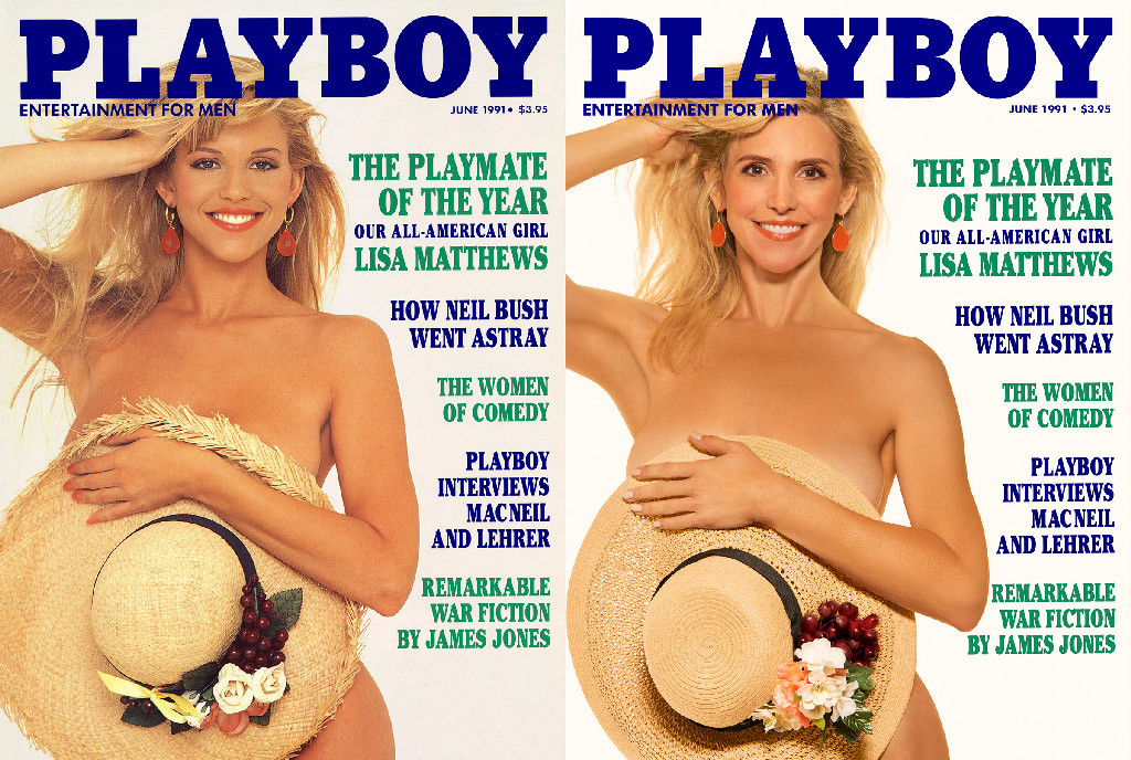 Playboy Then and Now Covers, Lisa Matthews Mozley