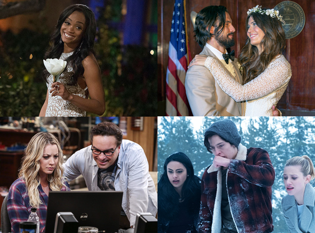 This is Us, Riverdale, The Big Bang Theory, The Bachelor