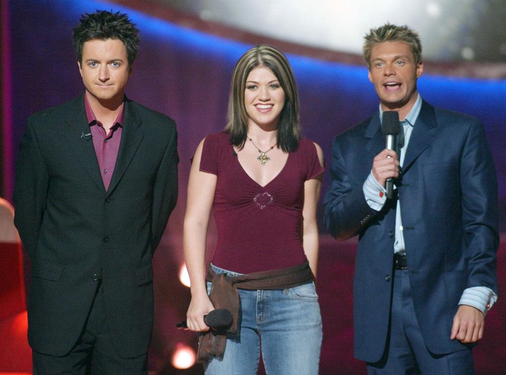 Brian Dunkleman, Kelly Clarkson, Ryan Seacrest, American Idol