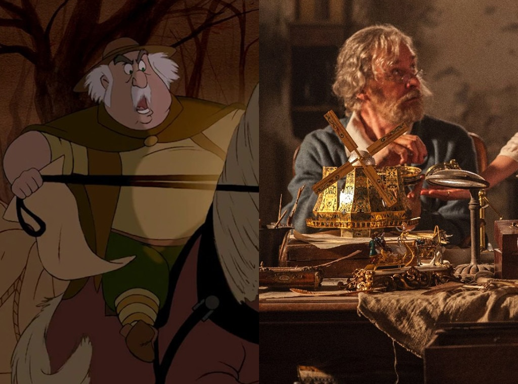 Maurice, Beauty and the Beast, Animated Disney vs. Live Action Disney