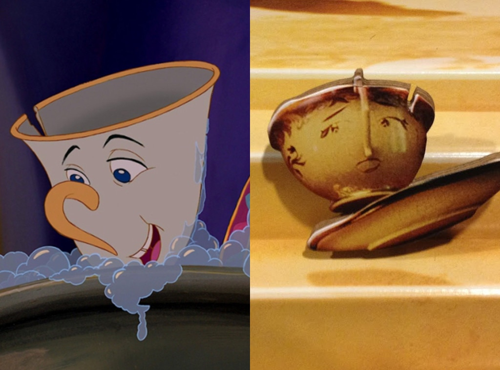 Chip, Beauty and the Beast, Animated Disney vs. Live Action Disney