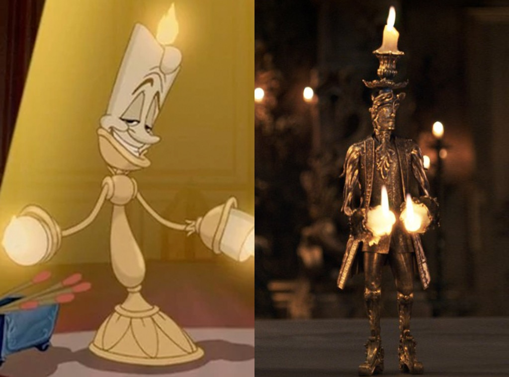 Lumiere, Beauty and the Beast, Animated Disney vs. Live Action Disney