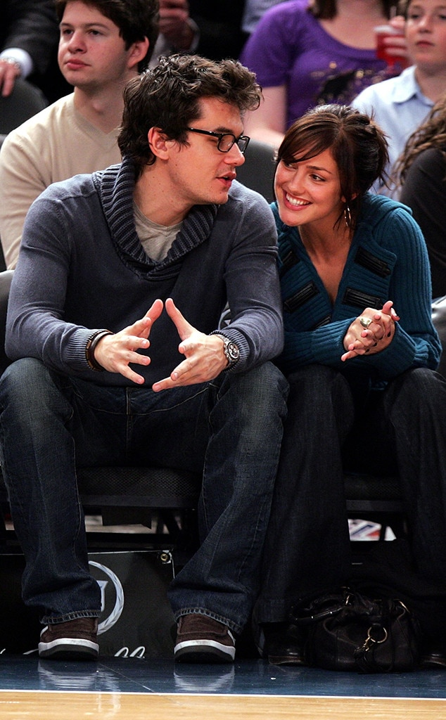 Minka Kelly -  That same year, the singer-songwriter was photographed getting flirty at a basketball game with the actress.