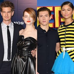 Spider Man Couples, Kirsten Dunst, Tobey Maguire, Emma Stone Andrew Garfield, Zendaya, Tom Holland