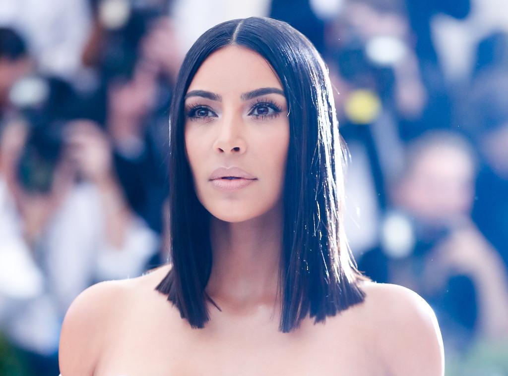 How Kim Kardashian S Hairstylist Achieves Super Straight Hair E Online