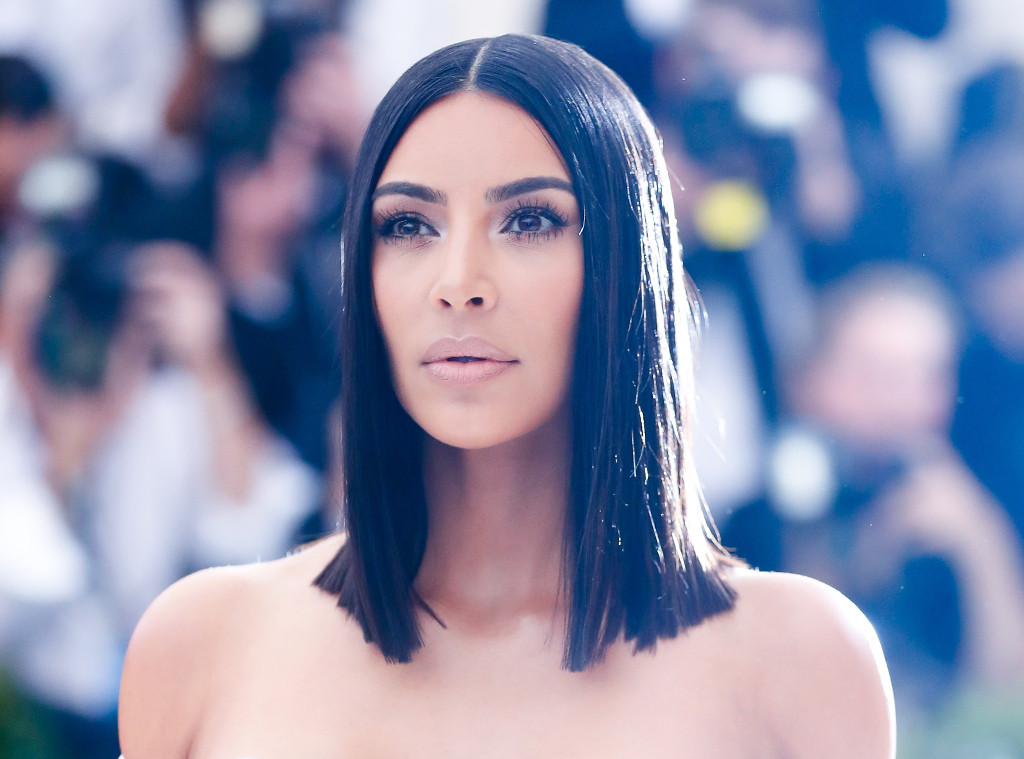 How Kim Kardashians Hairstylist Achieves Super Straight Hair E News