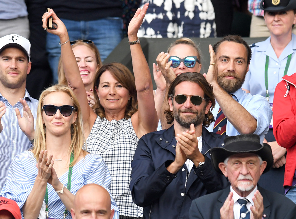 Carole Middleton, James Middleton, Bradley Cooper, 2017 Wimbledon