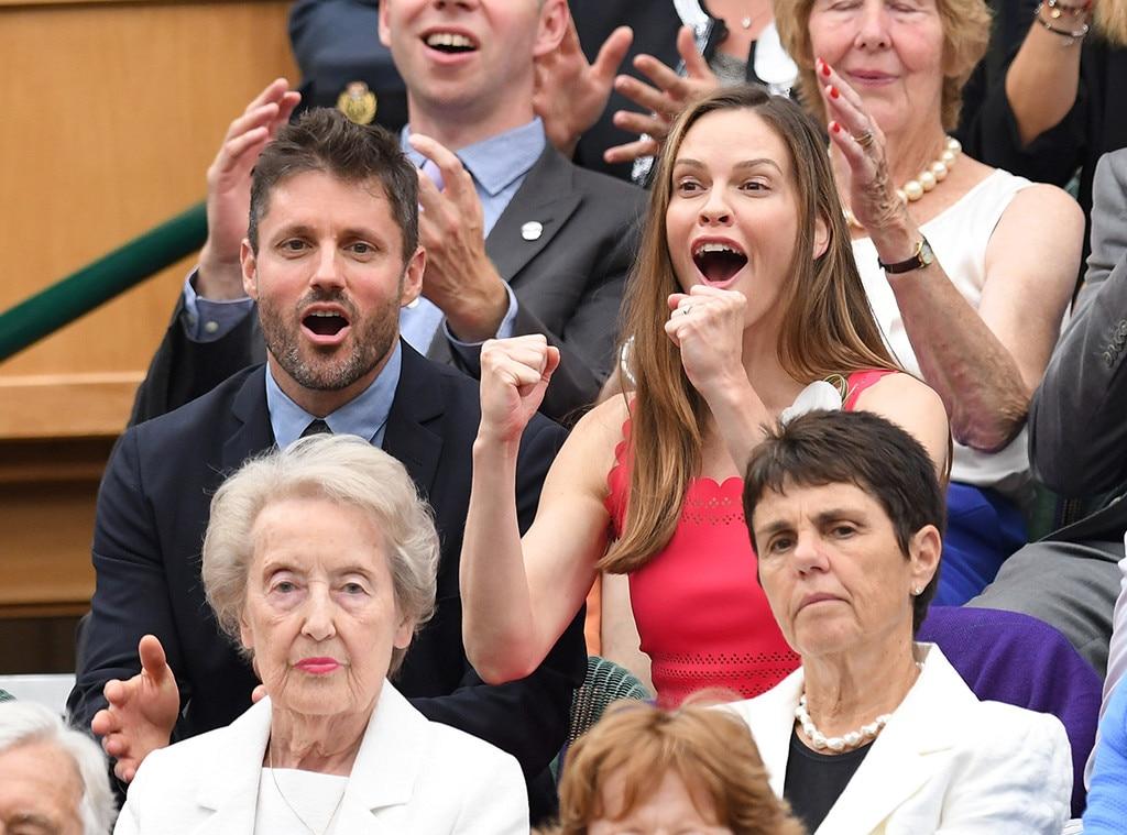 Philip Schneider, Hilary Swank, 2017 Wimbledon