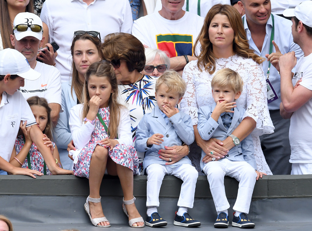 roger federer s 2 sets of twins steal the show at wimbledon 2017 e