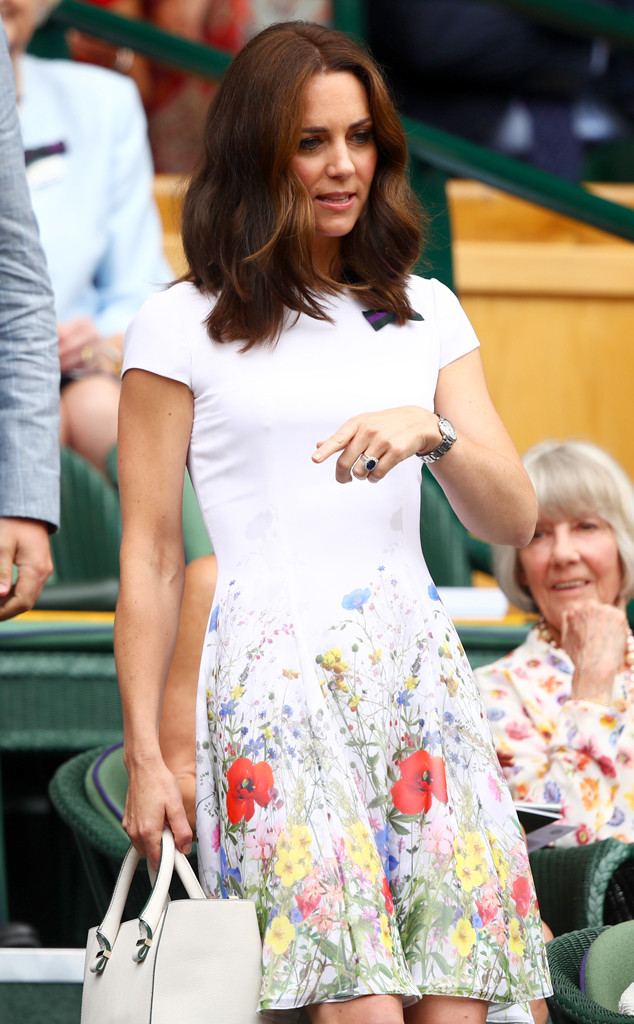 Kate Middleton Looks Lovely in Floral Dress at Wimbledon ...
