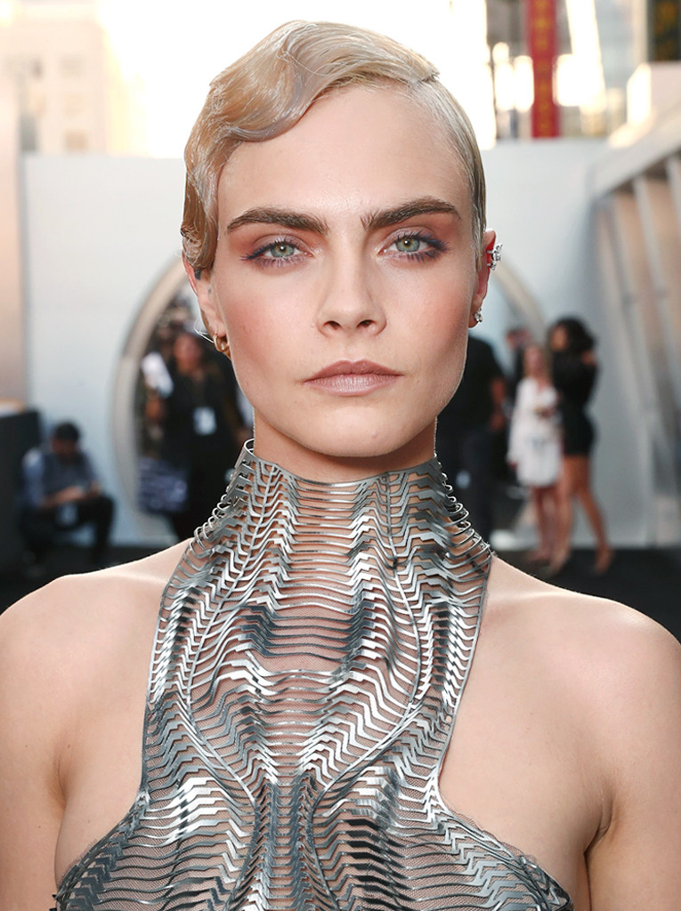 Cara Delevingne Channels Past And Future With Silver