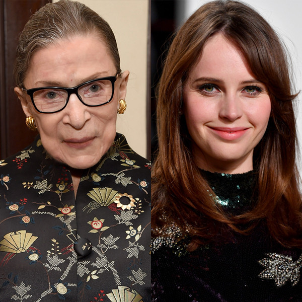 Felicity Jones Honors Supreme Court Justice Ruth Bader Ginsburg Following Her Death