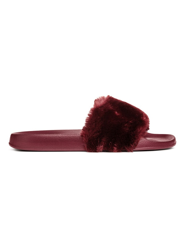 outlet for sale new arrivals timeless design Steve Madden from Faux Fur Slides | E! News