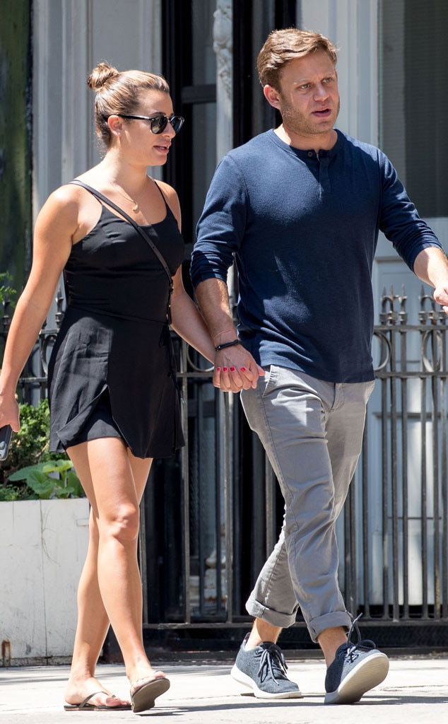 Lea Michele with boyfriend Zandy