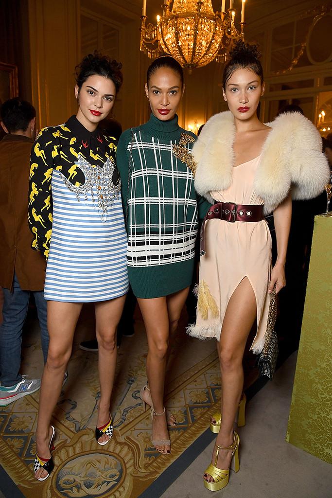 Kendall Jenner, Joan Smalls, Bella Hadid, Miu Miu, Haute Couture Paris