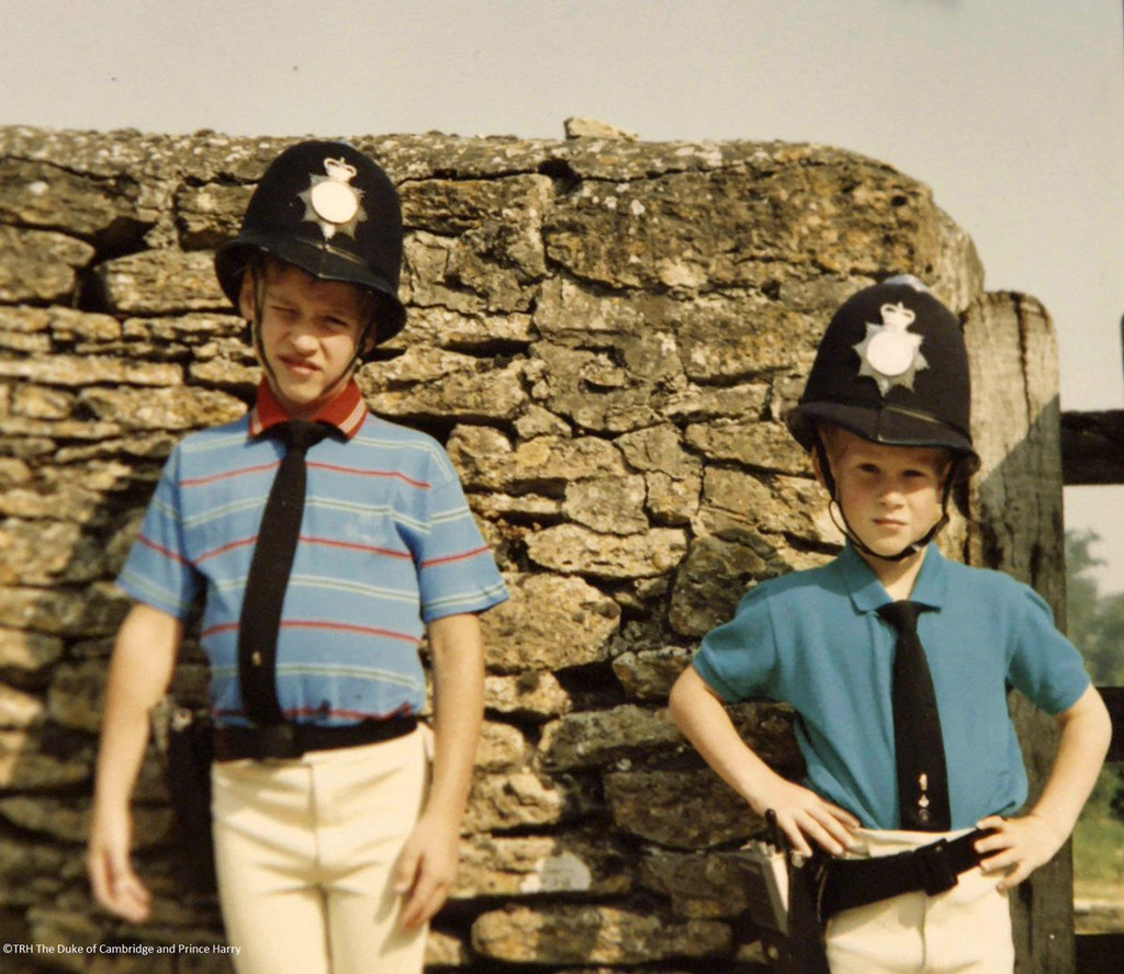 Prince William, Prince Harry, childhood photo