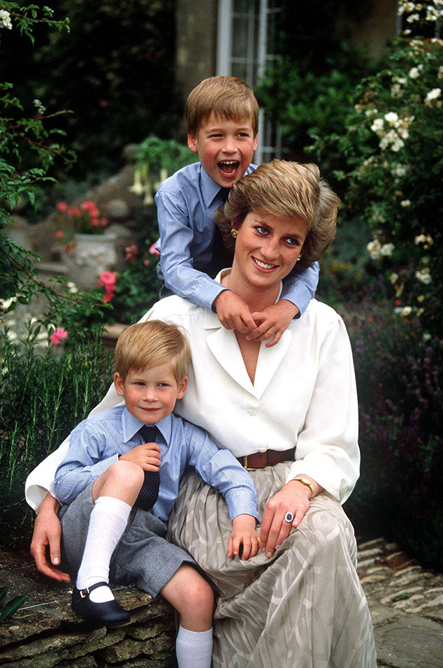 Prince Harry, Prince William, Princess Diana
