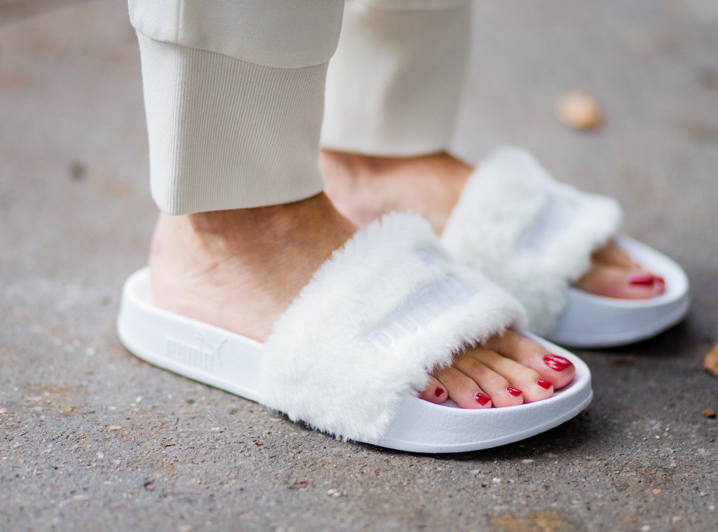 sports shoes 31f41 b16c8 19 Furry Slides You Can Wear in Summer | E! News