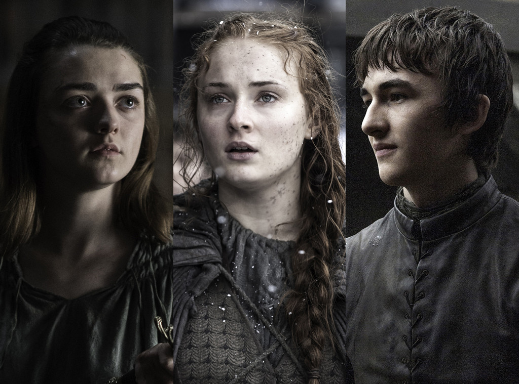 Maisie Williams, Sophie Turner, Isaac Hempstead Wright