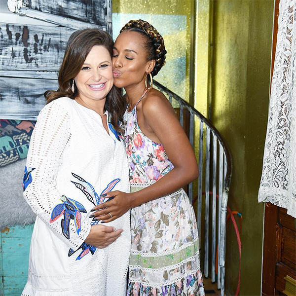 kerry washington shares a sweet photo from katie lowes u0026 39  baby shower