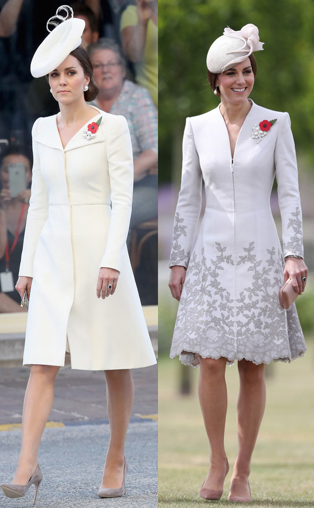 Seeing double kate middleton sports similar coat dresses for Kate middleton wedding dress where to buy
