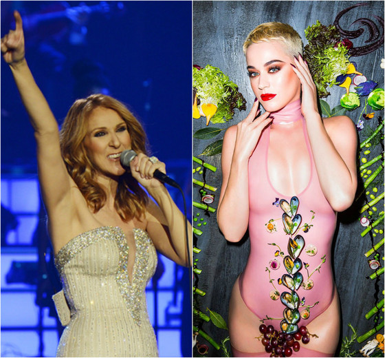 Katy Perry, Celine Dion