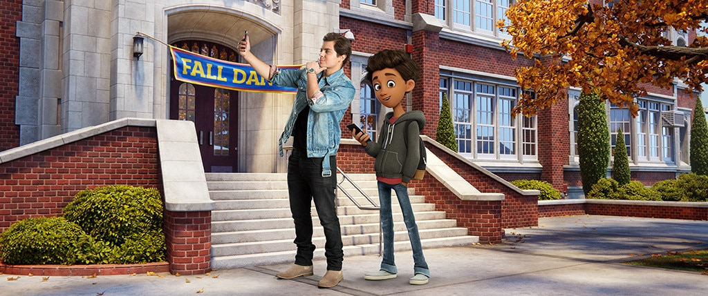 Alex jake t austin from meet the characters from the emoji movie jake t austin alex emoji movie m4hsunfo