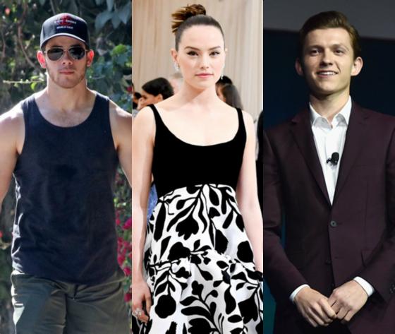 Nick Jonas, Daisy Ridley, Tom Holland
