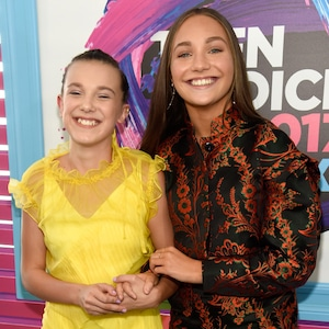 Millie Bobby Brown, Maddie Ziegler, Teen Choice Awards 2017