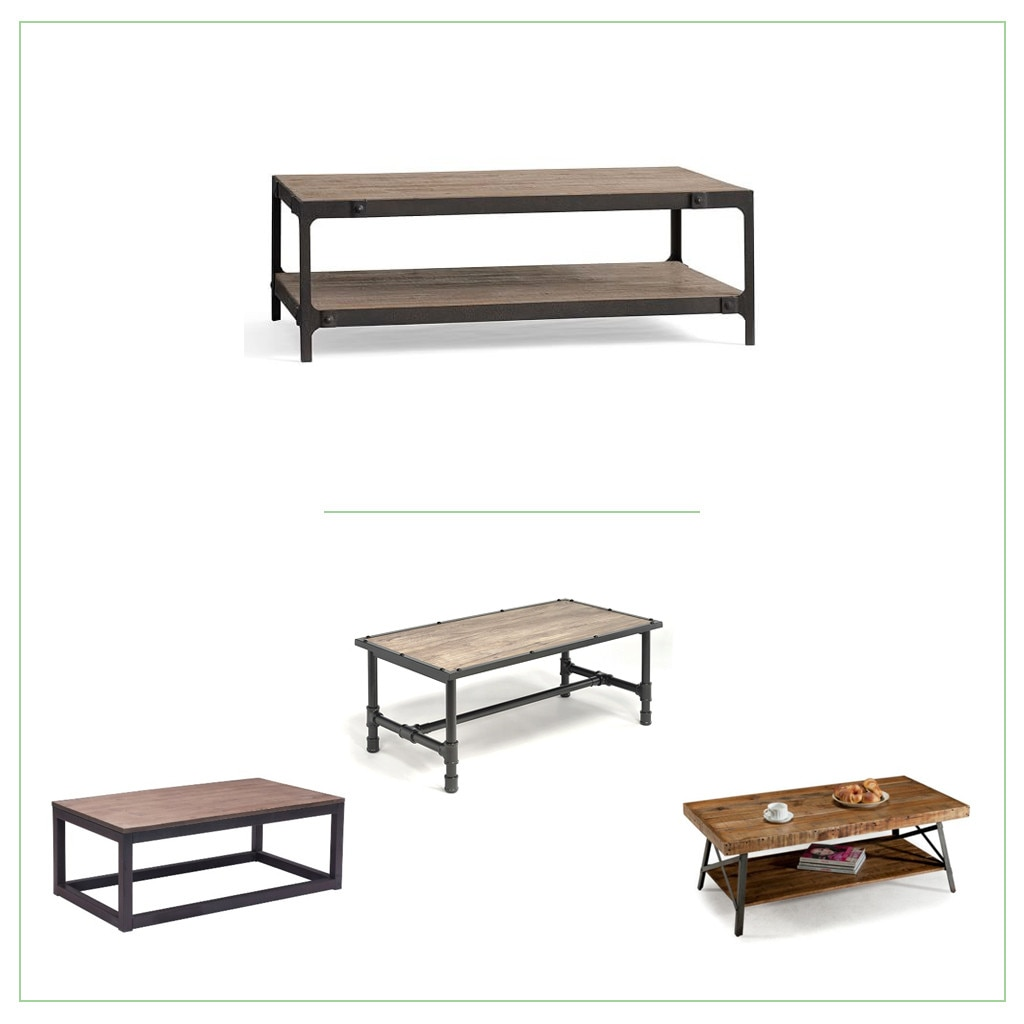 Branded: Pottery Barn Style. ZM Home Rustic Distressed Natural Wood Coffee  Table ...