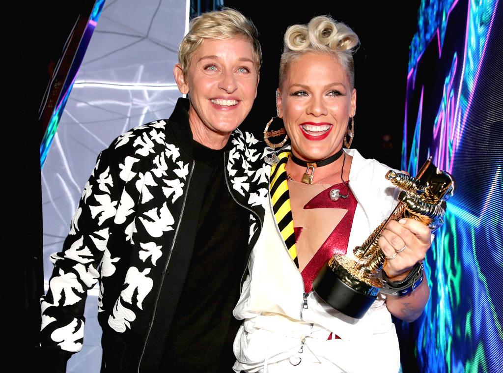 Ellen DeGeneres, Pink, MTV Video Music Awards 2017, Candid