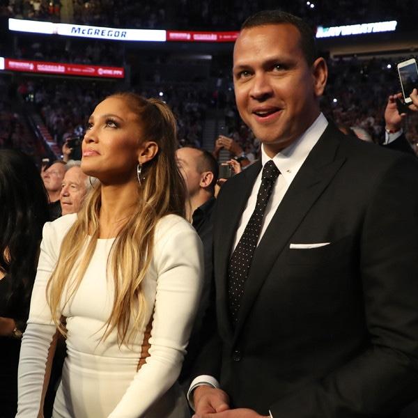 Mayweather VS McGregor, Jennifer Lopez, Alex Rodriguez