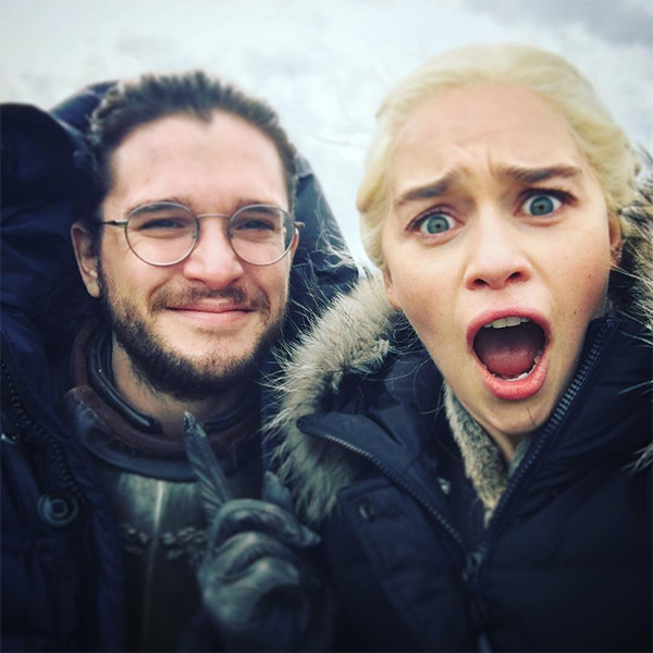 Kit Harington, Emilia Clarke, Game of Thrones, Behind-the-Scenes