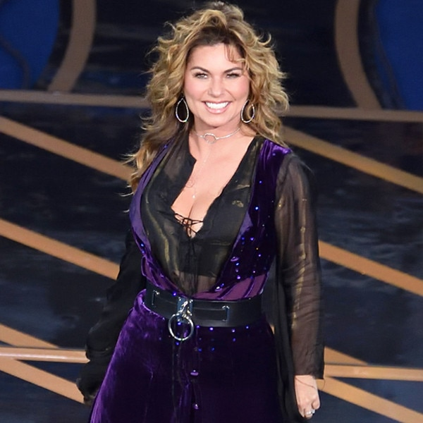 Shania Twain sexy performs on a stage
