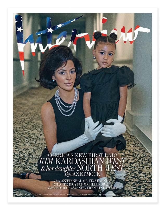 Kim Kardashian, North West, Interview Magazine