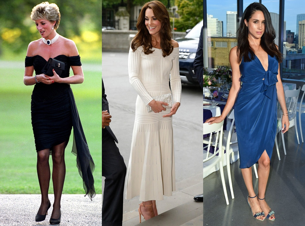 Most Risqu Outfit From Princess Diana Kate Middleton Meghan Markle Style Comparison E News