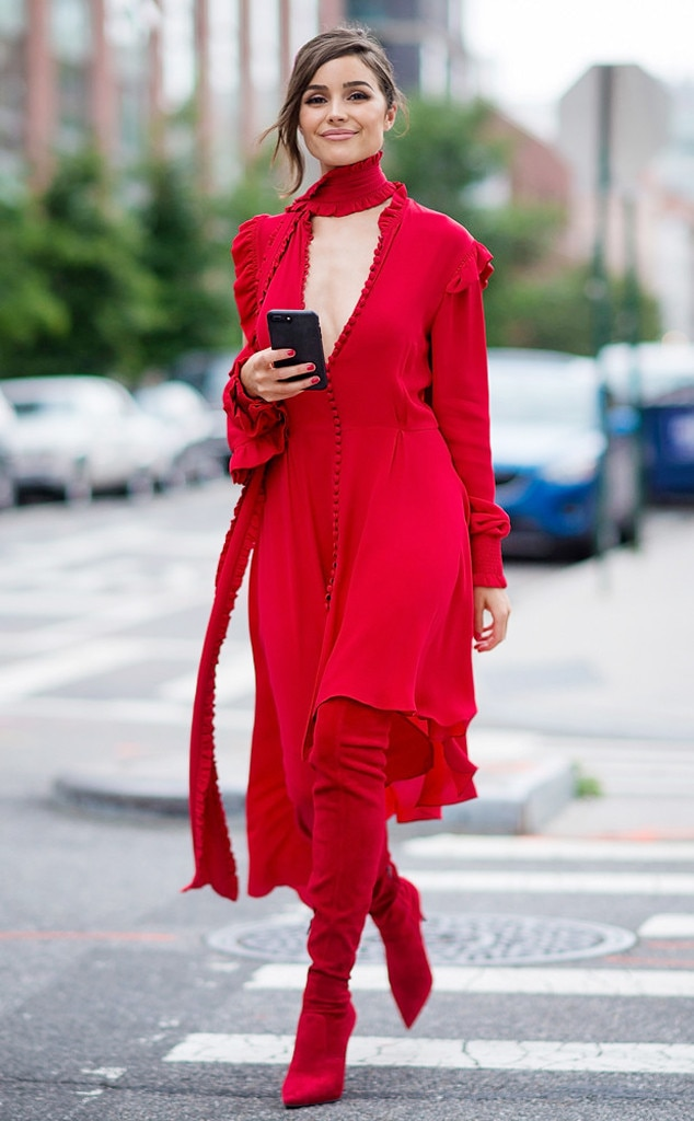 Ravishing In Red From Olivia Culpo S Street Style E News