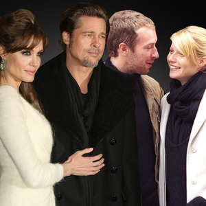 Couples Collage, Brad Pitt, Angelina Jolie, Chris Martin, Gwyneth Paltrow, Chris Pratt, Anna Faris