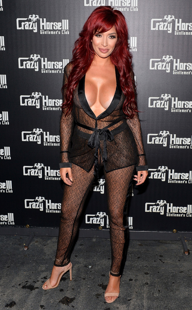Farrah Abraham Rocks Completely Sheer Jumpsuit For Night Out In Las Vegas  E News-9526