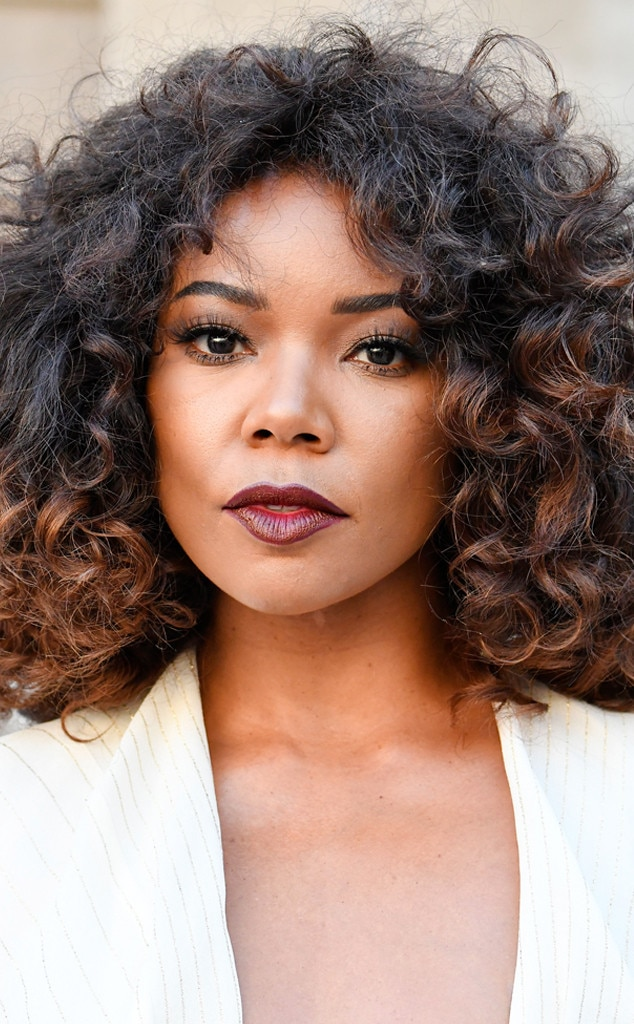 Gabrielle Union From The Best Celebrity Curly Hairstyles