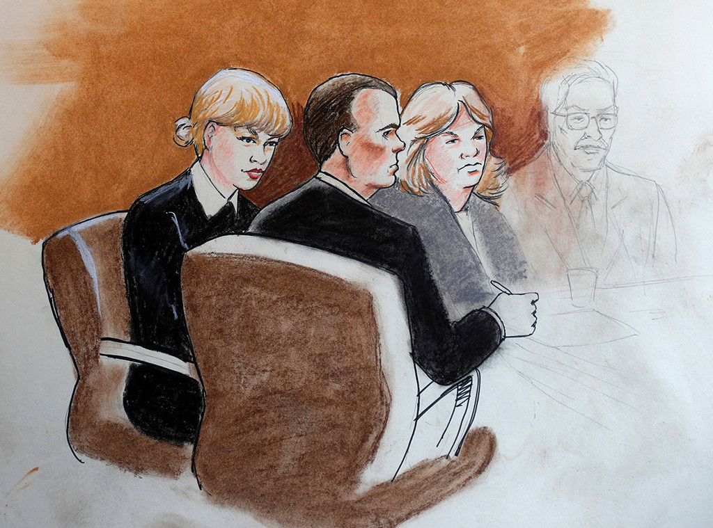 Taylor Swift vs David Mueller Trial Sketch
