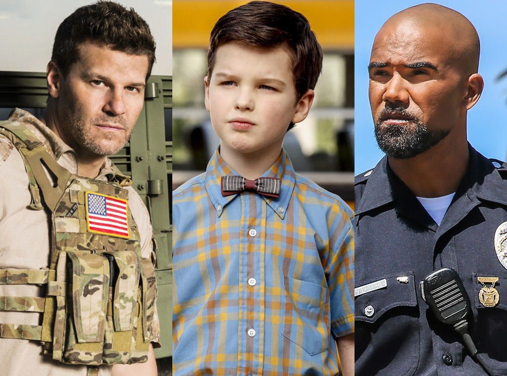 CBS Split, Shemar Moore, SWAT, Iain Armitage, Young Sheldon, David Boreanaz, Seal Team