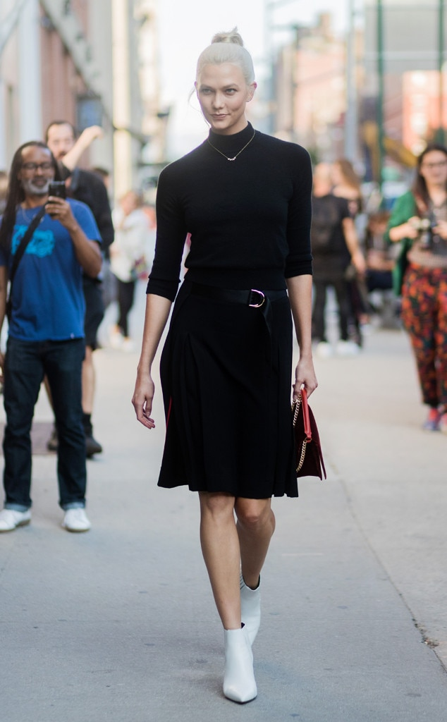 Karlie Kloss From Best Celeb Street Style From Nyfw Spring