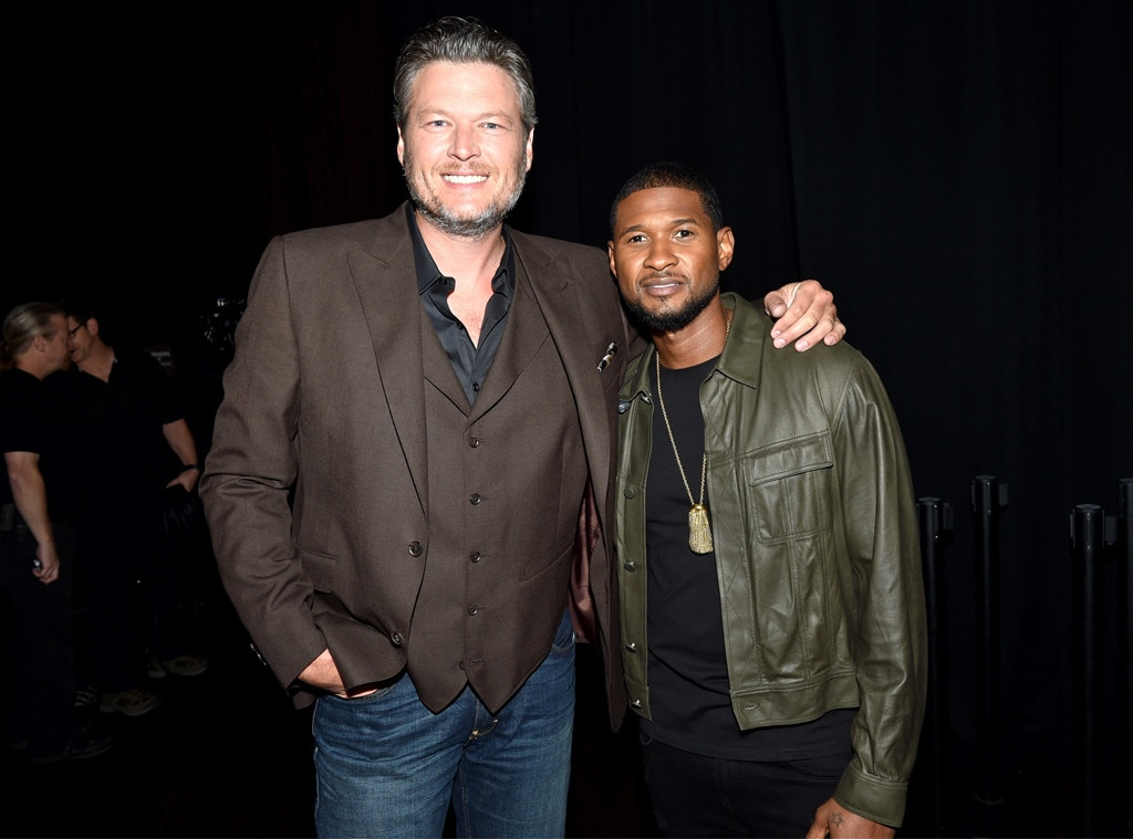 Blake Shelton and Usher, Hand in Hand: A Benefit for Hurricane Relief