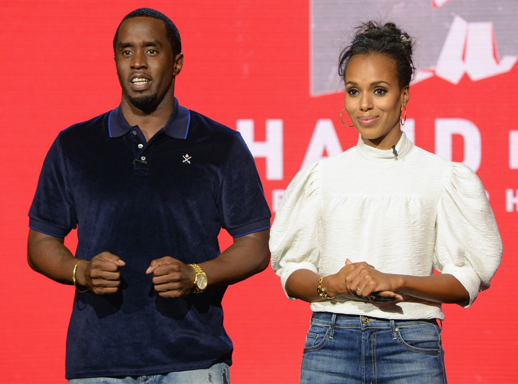 "Sean ""Diddy"" Combs and Kerry Washington, Hand in Hand: A Benefit for Hurricane Relief"