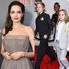 Angelina Jolie, Shiloh, Zahara, Vivienne, 'First They Killed My Father' NYC Premiere