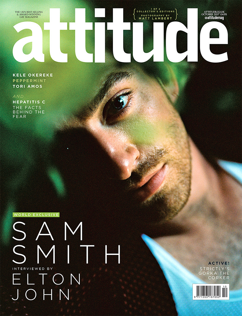 Sam Smith, Attitude cover, October 2017