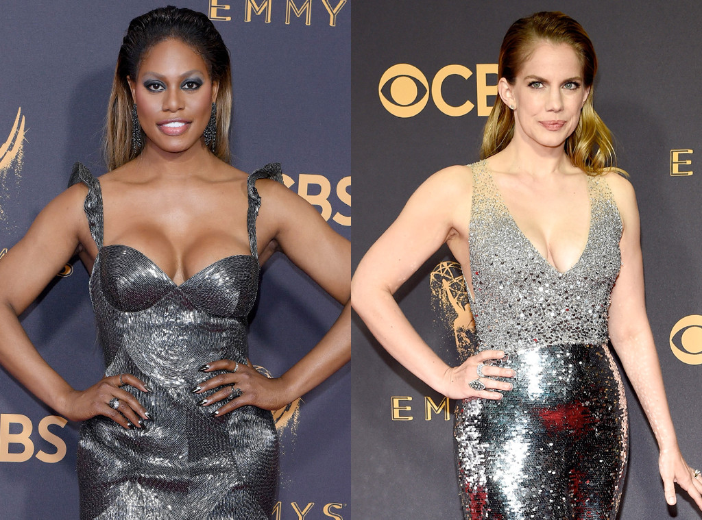 Laverne Cox, Anna Chlumsky, 2017 Emmy Awards, Arrivals