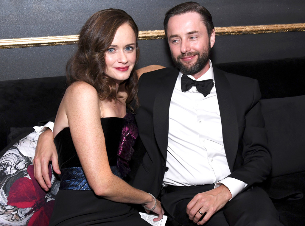 Alexis Bledel, Vincent Kartheiser, 2017 Emmy Awards, Candids