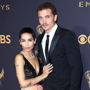 Zoe Kravitz, Karl Glusman, 2017 Emmys, Couples